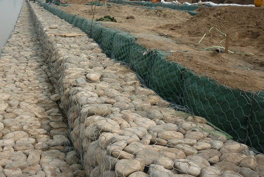 Construction Gabion Basket Wall Gabion Rock Wall Cages With ISO90000 / 2008 Certificate