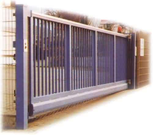 Dark Green Decorative Automatic Sliding Gates OEM / ODM Available