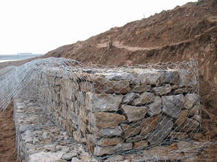 Gabion Wire Mesh Decorative Gabion Baskets For Water / Soil Protection